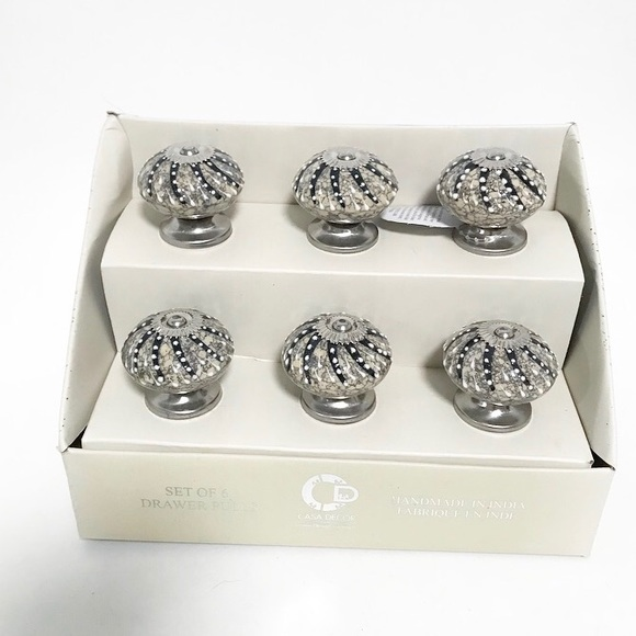 Urchin Drawer Pulls Set Of 6 Nwt